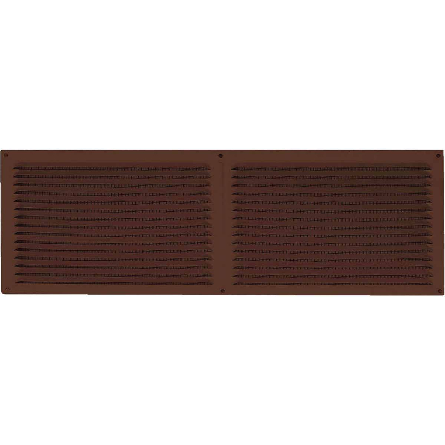 NorWesco 16 In. x 6 In. Brown Galvanized Soffit Ventilator Image 1