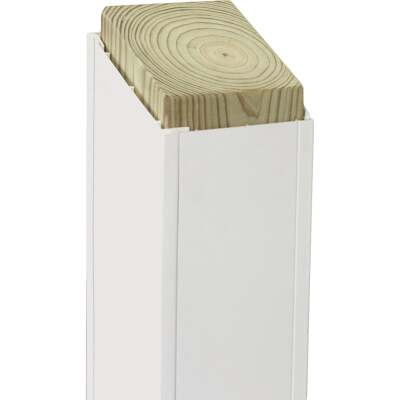 Beechdale 6 In. W. x 6 In. H. x 120 In. L. White PVC Smooth Post Wrap
