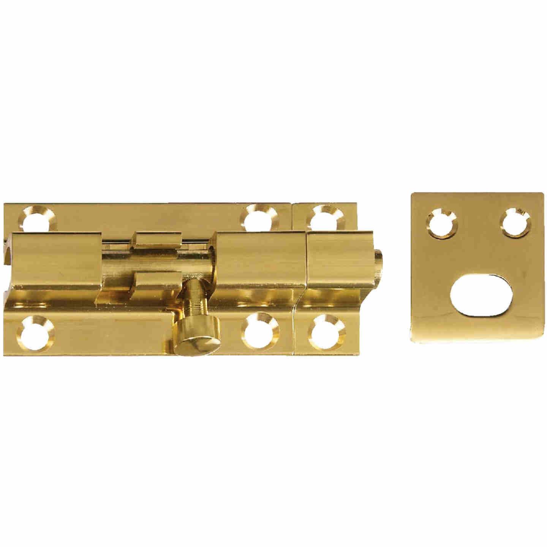 National V1925 Solid Brass Door Barrel Bolt (1 Count) Image 1