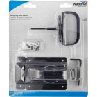 National Black Steel Swinging Door Latch Image 2