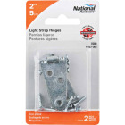 National 2 In. Zinc Light Strap Hinge (2-Pack) Image 2