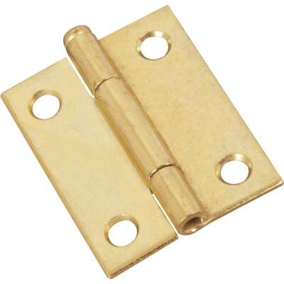 National 2 In. Brass Loose-Pin Narrow Hinge (2-Pack)
