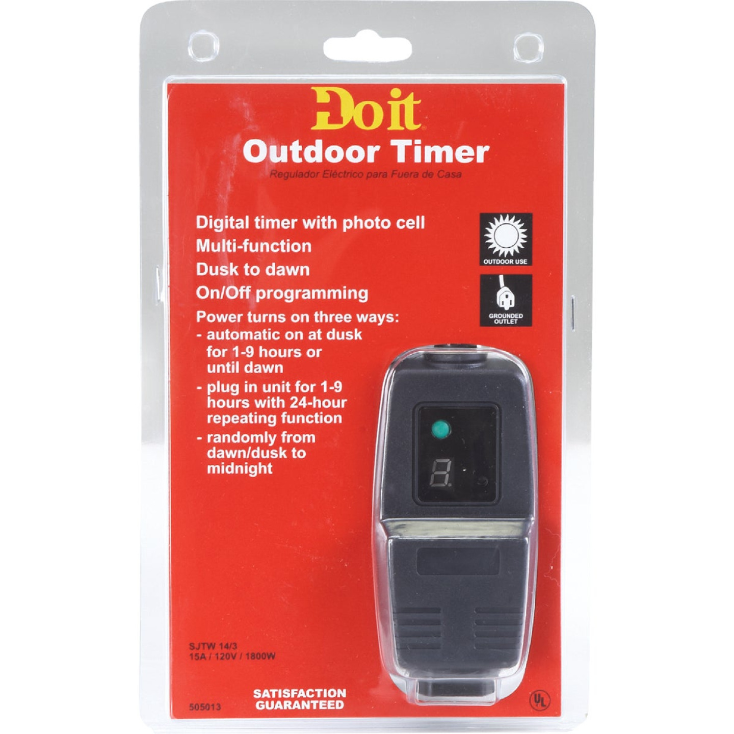 Do it 15A 120V 1800W Black Outdoor Timer Image 3