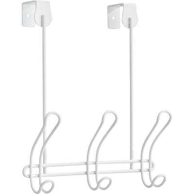 iDesign Classico Over-The-Door White 3-Hook Rail