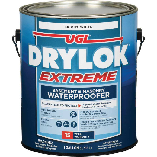 Drylok White Extreme Basement & Masonry Waterproofer Concrete Sealer, 1 Gal.