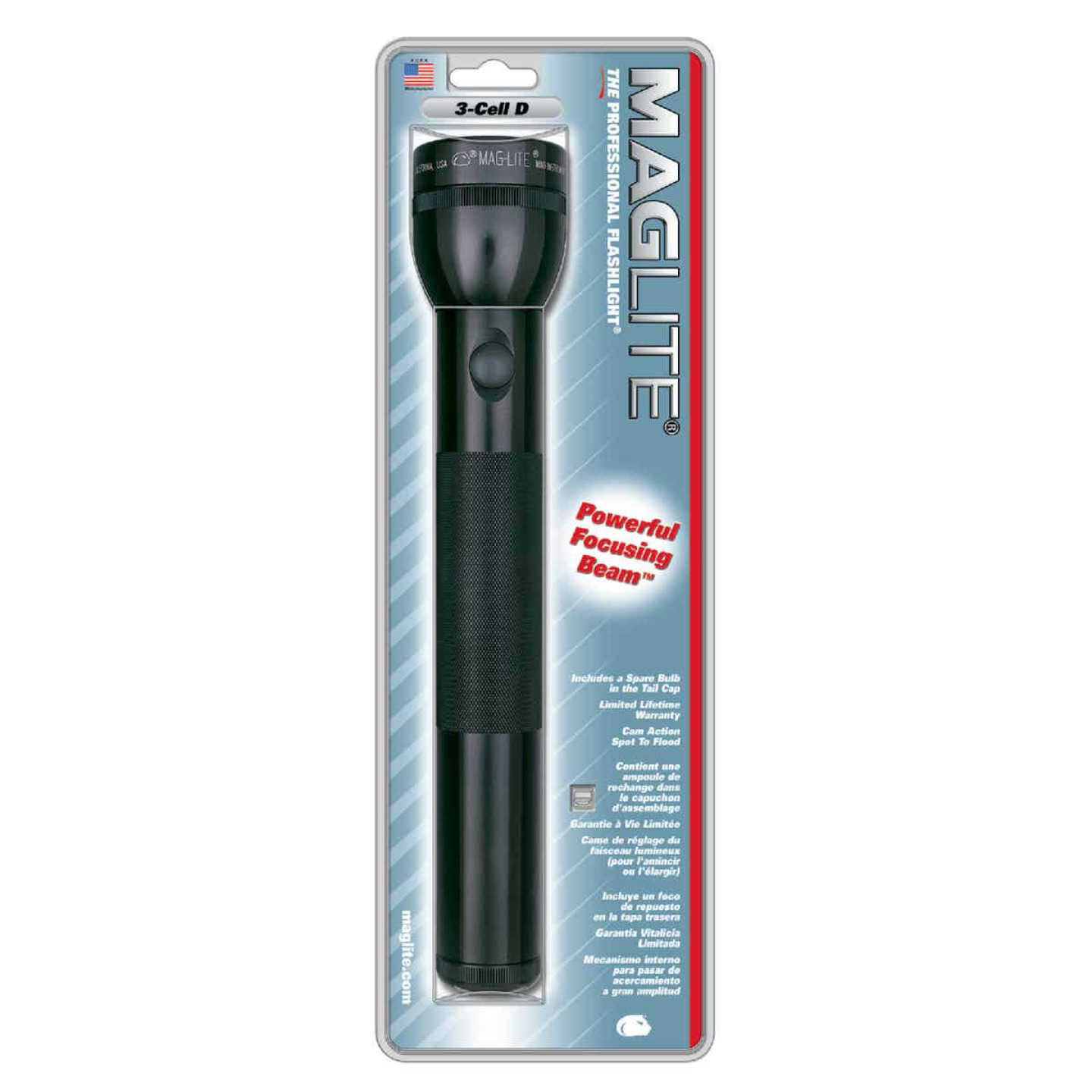 Maglite 45 Lm. Xenon 3D Flashlight, Black Image 2